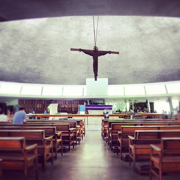UP Chapel of the Holy Sacrifice • a fine example of modern Philippine architecture • designed by Leandro Locsin