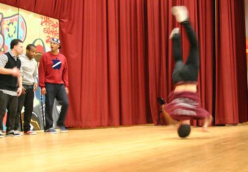 Breakdancing at Hip Hop Festival