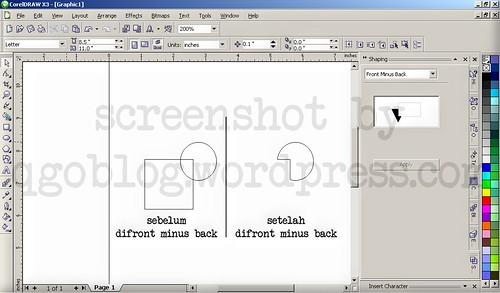 Mengenal Fasilitas Shaping Pada Corel Draw6