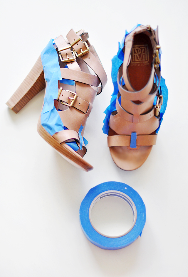Neon Shoes DIY  -  paint leather shoes 1