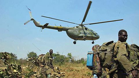 Ugandan military operations. Photo by Voice of America.