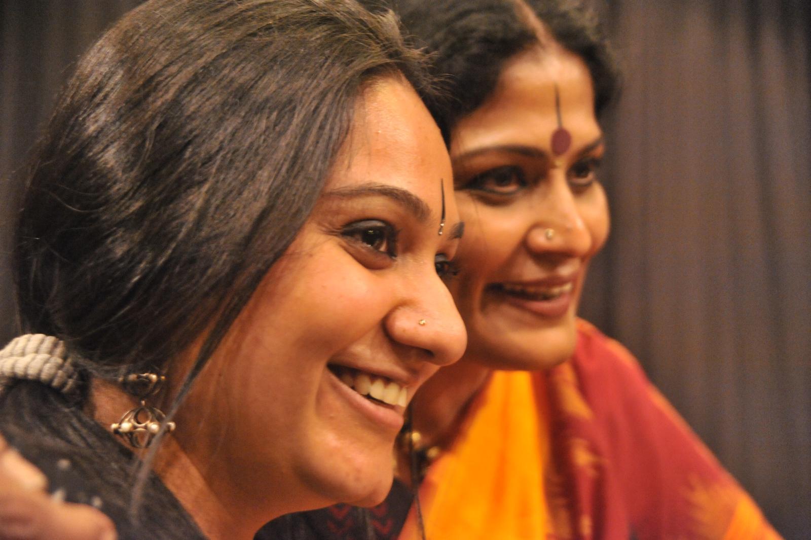 Matching the steps. Dancers, Sharanya chandran with Mother Geeta Chandran
