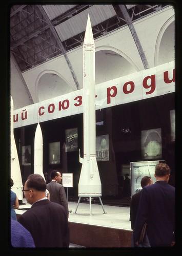 Model of Soviet Rocket, Moscow, 1969