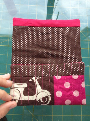 Snap Pouch Tutorial Lining Fold