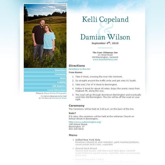 WeddingWebsiteScreenshot