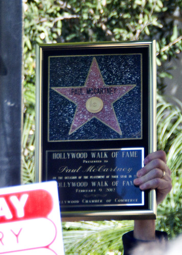 Paul McCartney gets a star on the Hollywood Walk of Fame