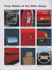 1985 Hyundai Pony Brochure 10