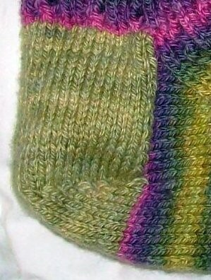 Stockinette Heel Flap