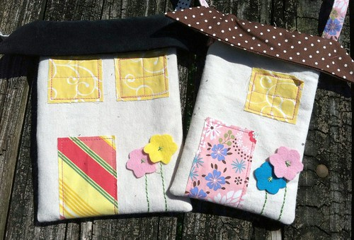 little house pouch (modified from the long thread tutorial)