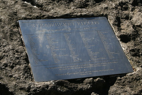 Strawberry Fields plaque