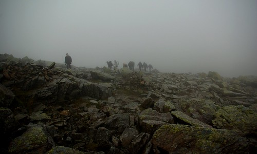 20110924-02_Boulder Field nr Great End in the Mist by gary.hadden