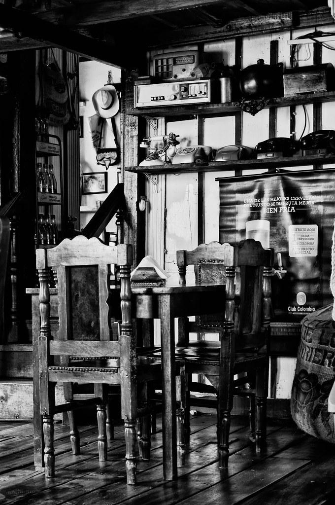 Imagen del interior de un restaurante en Salento, Quindio