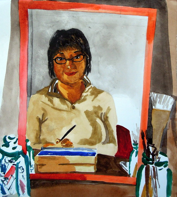 Self-portrait, March 2012