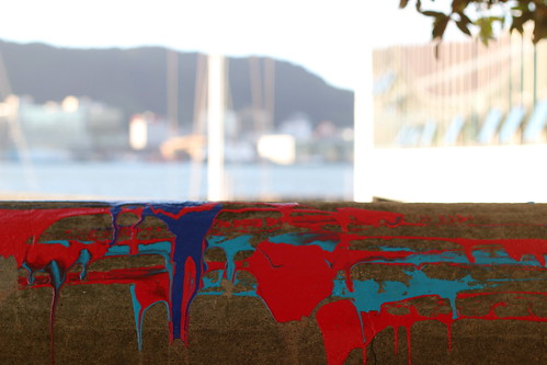 Monday: paint by Freyberg Pool