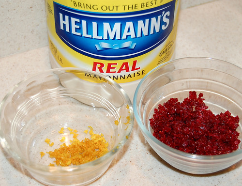 orange zest and cranberries