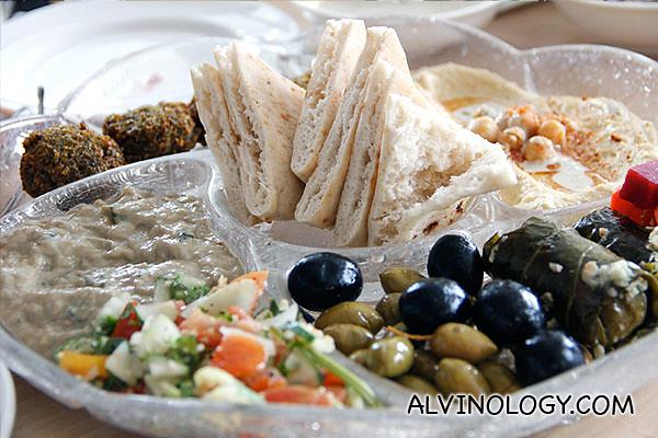 The  mediterranean platter ($24.90)
