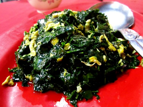 Ruby fried cangkuk manis with egg