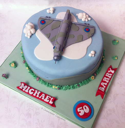 Cirencester Cupcakes - Vulcan to the Sky Birthday Cake