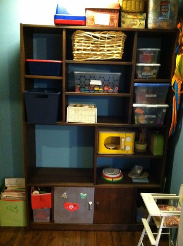 closet/play kitchen in process