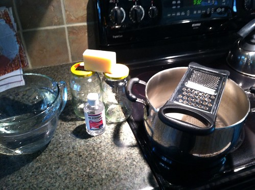 soap making experiment (hand soap version)