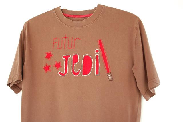 reverse appiqué shirt
