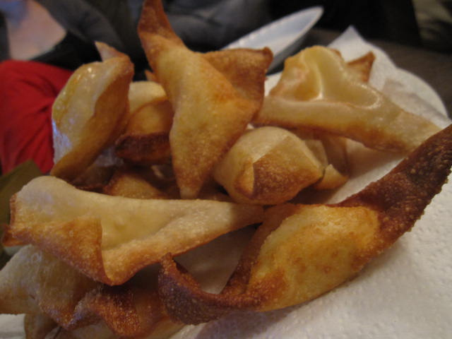 cream cheese sriracha wontons