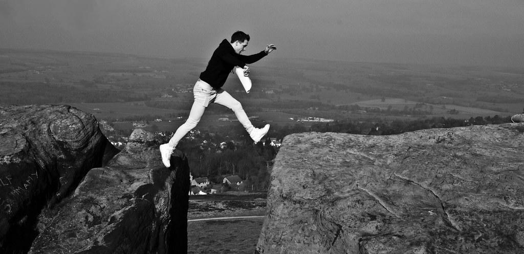 Leap.