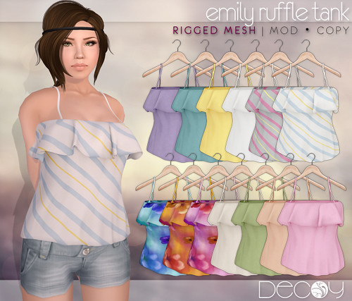 Emily Ruffled Tank by Decoy @ The Deck