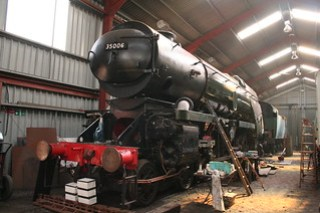 Bullied 35006 nearing the end of its restoration