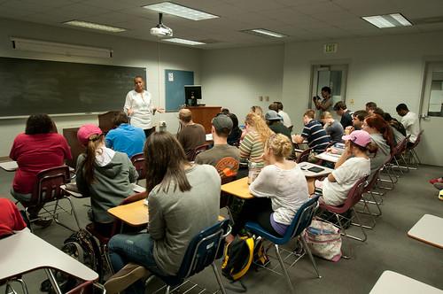 Sen. Joyce Elliott lectures