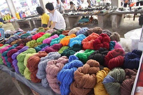 Yarn at market
