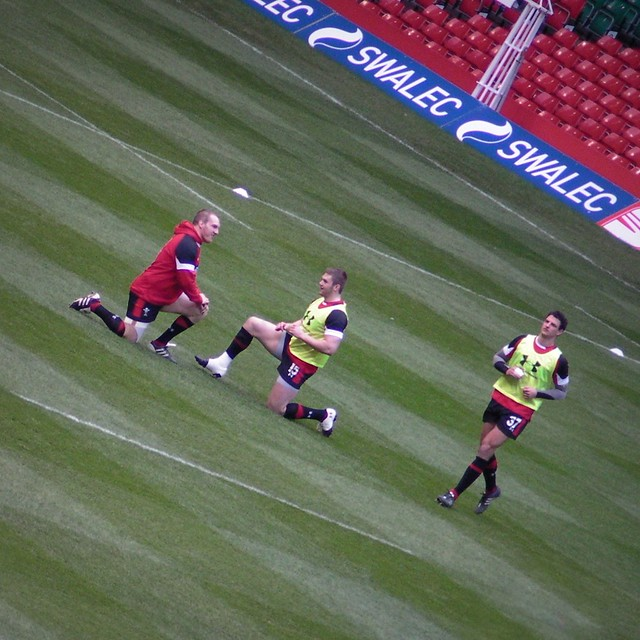 Wales Rugby training at the Millennium Stadium