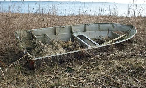 Retired row boat