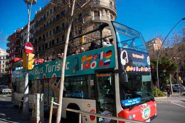 Барселона, Каталония, Испания, туристические автобусы
