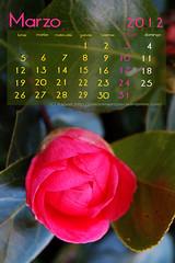 Calendario marzo 2012