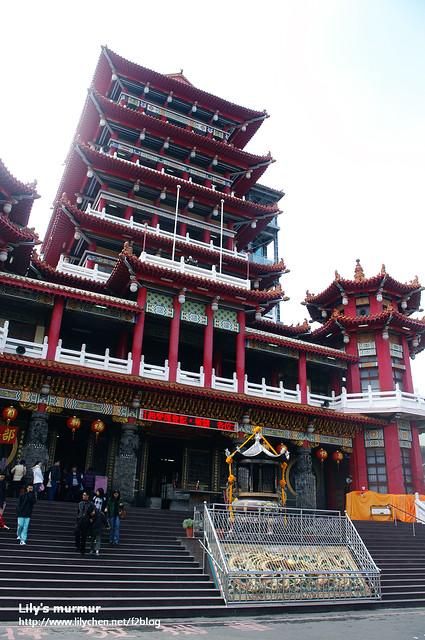 這就是九華山地藏庵,我們沒有進去逛,只是在外面拍照而已。