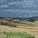 Janet E Davis, View from Housesteads (sketch), 1991, oil on board, 20x24 ins