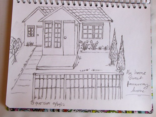 Drawing: Home Sweet Faraway Home