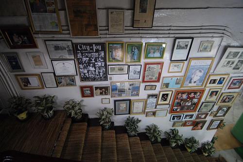 Dozens of photos adorn the walls of The Fairlawn Hotel.