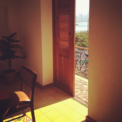 Our digs in the city, beautiful views... #interior #cascoviejo #cascoantiguo #panamacity #centralamerica #panama