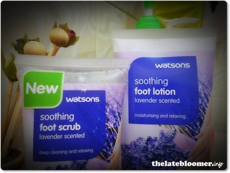 Foot scrub and lotion
