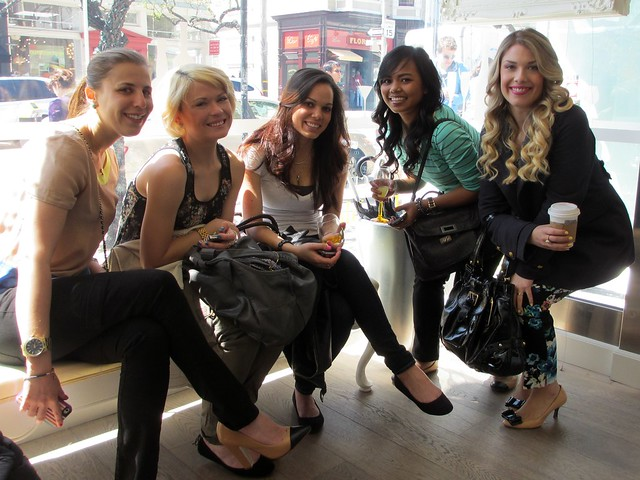 Jes, Parris, Kiri, Kelly, and Lauren at Drybar