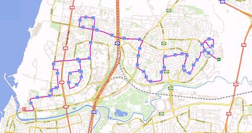 מפת קו 6 בצפון תל-אביב מרידינג לעתידים