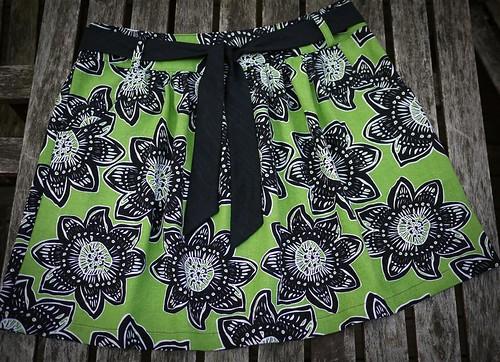 Block Print Linen Skirt