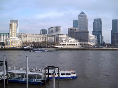 London: Blick auf Canary Wharf