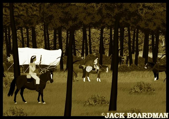 Blackmon's posse met homesteaders ©2012 Jack Boardman
