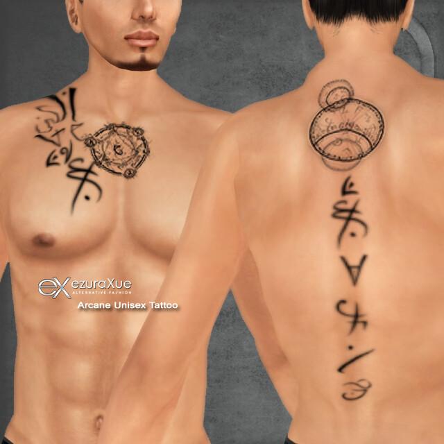 + eX + Arcane Unisex Tattoo