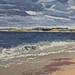 Janet E Davis, Alnmouth Bay (sketch). 1992-93, oil on board, 20x24 inches.