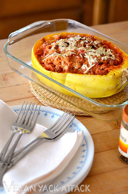 Love pizza, but want a lighter option without missing flavors? Try my Pizza Stuffed Spaghetti Squash! All vegan, and all delicious.