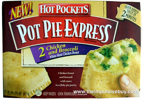 Hot Pockets Chicken and Broccoli Pot Pie Express